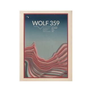 Posters del espacio del art déco del lobo 359