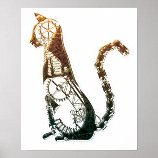 Posters del gato de Steampunk