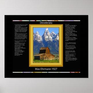 Posters del granero de la montaña de los