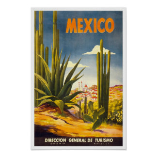 posters del viaje de México del vintage Póster