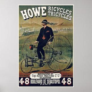 Posters/impresiones: Howe monta en bicicleta los t