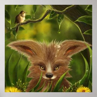 posters verdes de la selva