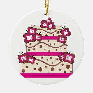 Postre de la torta adorno redondo de cerámica