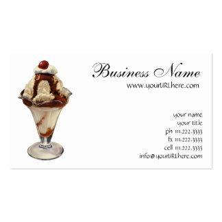 Postre del vintage Cereza caliente del helado del
