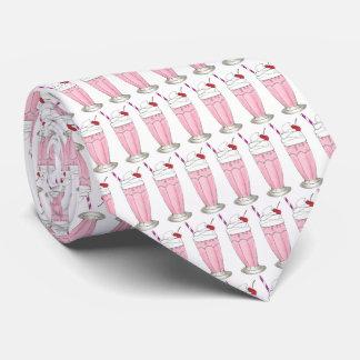 Postre rosado del Milkshake de la sacudida del Corbata