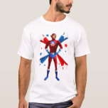 Postura heroica camiseta