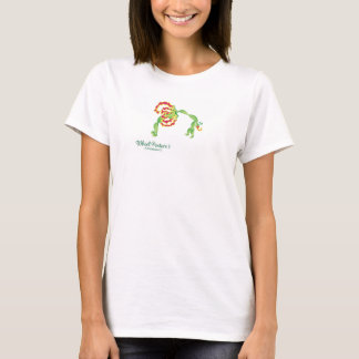 (Postura I de la rueda) camiseta blanca básica Camiseta