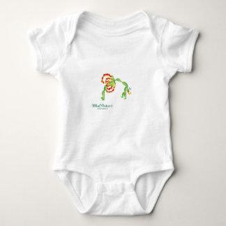 (Postura I de la rueda) mono del jersey del bebé