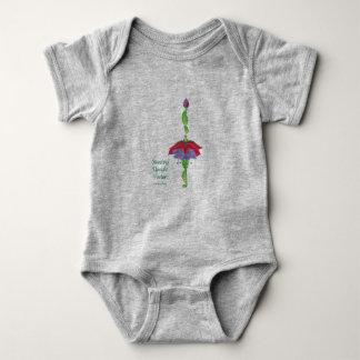 Postura vertical derecha (juego del cuerpo del body para bebé