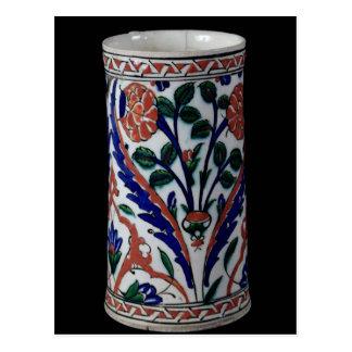 Pote con una decoración floral, Iznik Postal