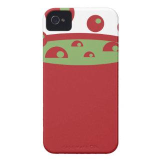 Pote de cocinar rojo y verde carcasa para iPhone 4