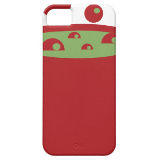 Pote de cocinar rojo y verde funda para iPhone SE/5/5s