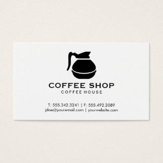 Pote del café (negro) tarjeta de visita
