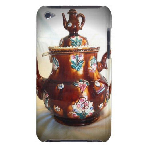Pote inglés antiguo adornado de lujo del café de l iPod Case-Mate protectores