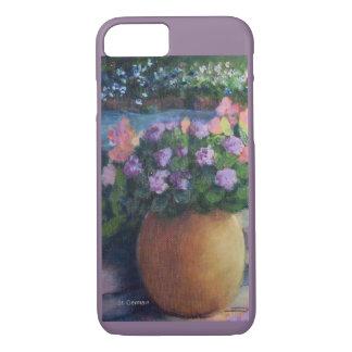 Pote y flores del Jardín-Primero-Oro de Elaine Funda Para iPhone 8/7