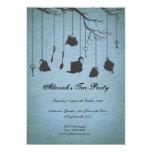 Potes y tazas y fiesta del té del cumpleaños de invitación 12,7 x 17,8 cm