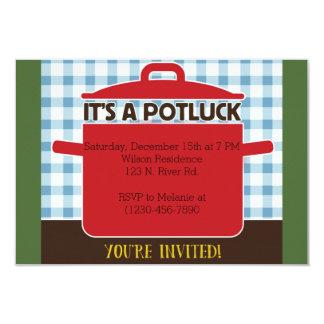 Potluck Invitación 8,9 X 12,7 Cm