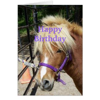 Potro cristiano de la tarjeta del feliz cumpleaños