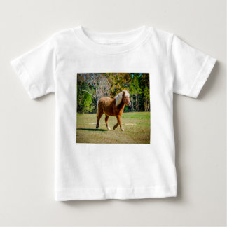 Potro de Shetland bonito Camiseta De Bebé