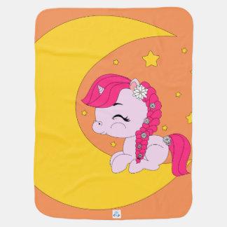 Potro en la luna - manta del bebé