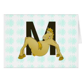 Potro flexible del monograma M personalizado Tarjeta De Felicitación