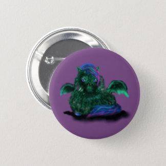 Potro mullido del dragón chapa redonda de 5 cm