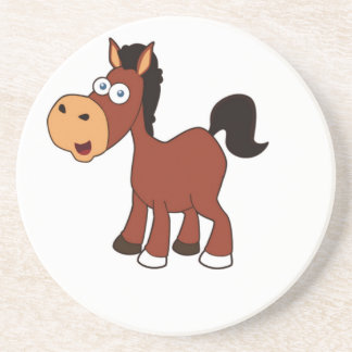 potro rojo del caballo posavasos de arenisca