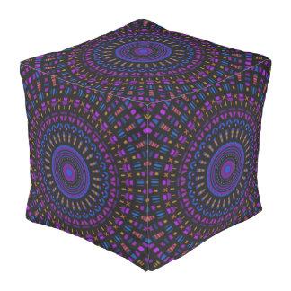 Pouf Almohada étnica del cubo