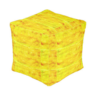Pouf amarillo brillante
