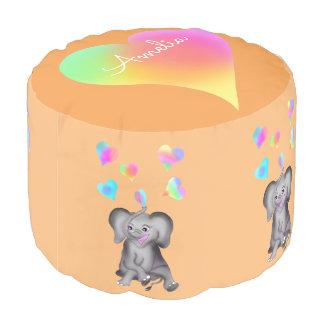 Pouf Corazones del elefante por los Happy Juul Company