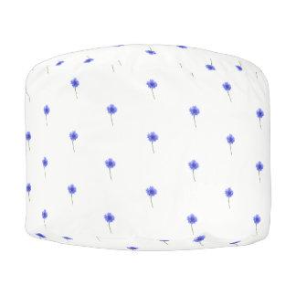 Pouf cornflower azul