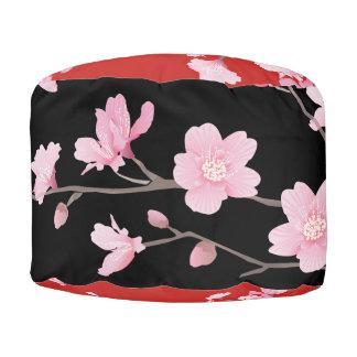 Pouf Flor de cerezo - rojo
