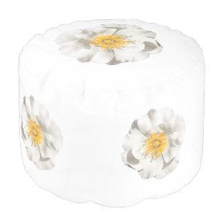 Pouf Foto de la flor blanca