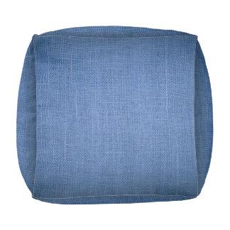 Pouf Impresión cubicada del taburete con la lona azul