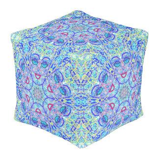 """Pouf La geometría sagrada """"puede poder"""" el taburete en"""