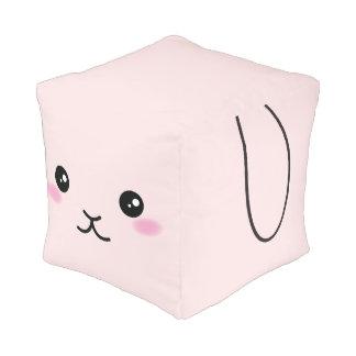 Pouf Lindo, kawaii, diseño rosado del conejito
