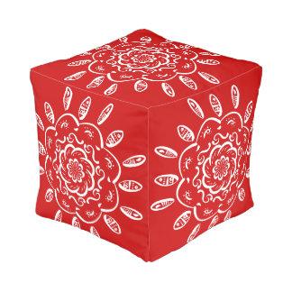 Pouf Mandala de la cereza
