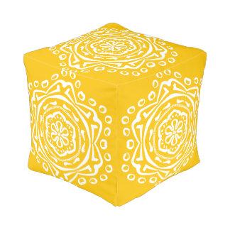 Pouf Mandala de la miel