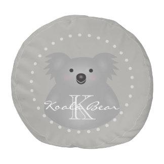 Pouf Monograma mimoso lindo del oso de koala del bebé