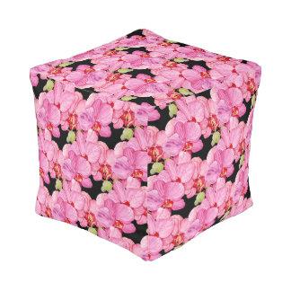 Pouf Orquídeas rosadas