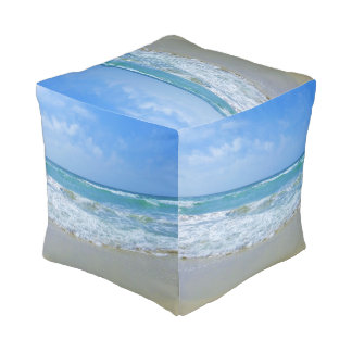 Pouf Playa y mar ondulado