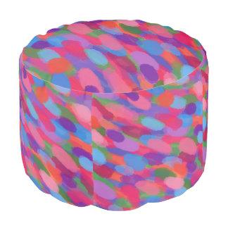 Pouf Taburete abstracto del modelo de las gotas de agua