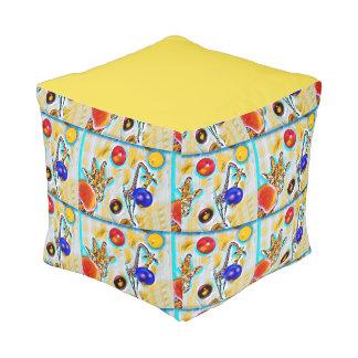 Pouf Taburete colorido del cubo de la jirafa