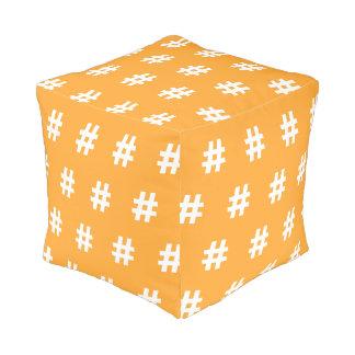 Pouf Taburete cubicado naranja de Hipstar Hashtag