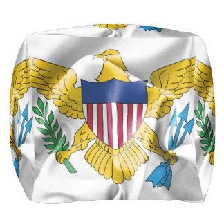 Pouf Taburete de la bandera de United States Virgin