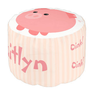 Pouf Taburete rechoncho rosado lindo del escabel del