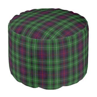Pouf Tartán azulverde del estilo escocés de Cunningham