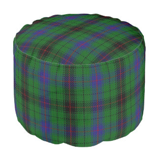 Pouf Tartán azulverde del estilo escocés de Davidson