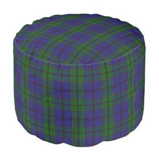 Pouf Tartán azulverde del estilo escocés de Strachan