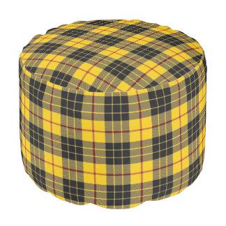 Pouf Tartán escocés del negro del amarillo del estilo
